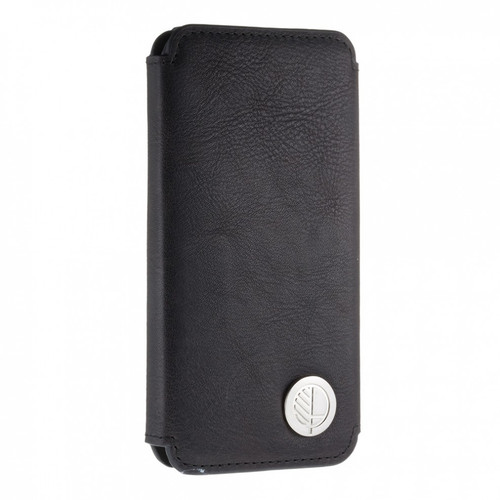Class Leading Soft Premium British Real Leather iPhone 7 Wallet Case in Verglas Black