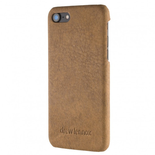 """Limited Edition! The """"Assured"""" Luxury Embossed Slim Profile Genuine British Leather iPhone 8 Back Cover Case in Taupe Blaze"""