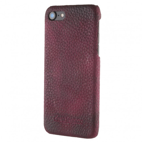 "Limited Edition! The ""Assured"" Luxury Embossed Slim Profile Genuine British Leather iPhone 8 Back Cover Case in Mountain Bear Plush Purple"