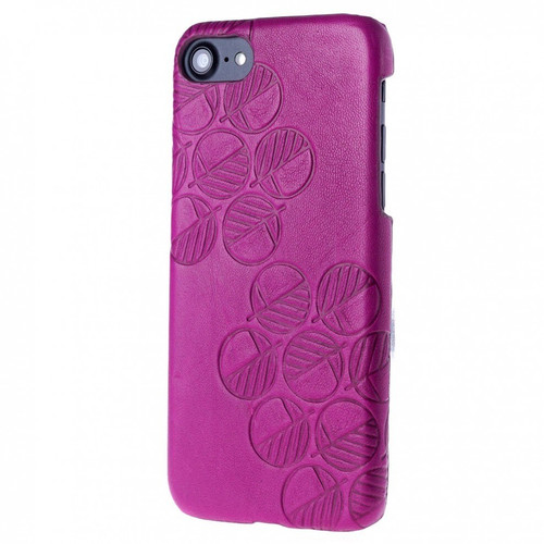 """The """"Assured"""" Luxury Embossed Slim Profile Genuine British Leather iPhone 6 6S Back Cover Case in Supple Fuchsia Pink"""