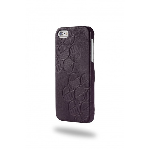 "The ""Assured"" Luxury Embossed Slim Profile Genuine British Leather iPhone SE 5 5S Back Cover Case in Majestic Purple"
