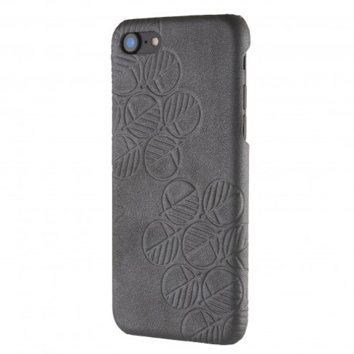 """The """"Assured"""" Luxury Embossed Slim Profile Genuine British Leather iPhone 6 and 6S Back Cover Case in Pearlised Silver Grey"""