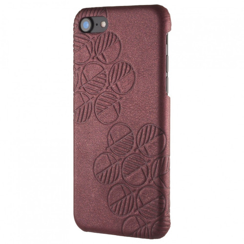 "Limited Edition! The ""Assured"" Luxury Embossed Slim Profile Genuine British Leather iPhone 7 Back Cover Case in Cosmic Chablis Purple which has a slight glitter"