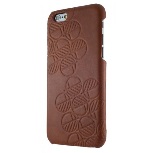 "The ""Assured"" Luxury Embossed Slim Profile Genuine British Leather iPhone 7 Back Cover Case in Rich Brown"