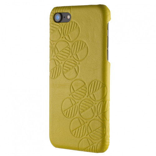 """Limited Edition! The """"Assured"""" Luxury Embossed Slim Profile Sensuous Genuine British Leather iPhone 7 Back Cover Case in Stunning Serena Nappa Cress Green"""