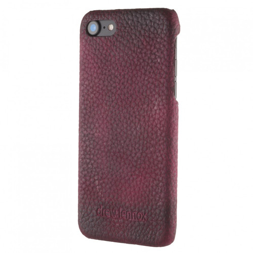 """Limited Edition! The """"Assured"""" Luxury Embossed Slim Profile Genuine British Leather iPhone 7 Back Cover Case in Mountain Bear Plush Purple"""