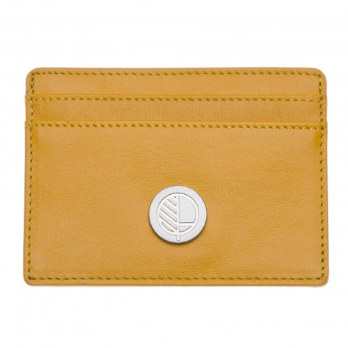"Limited Edition! Drew Lennox's Ultra Slim & Thin Card Holder in English Raphael Golden Rod Leather – the ""Poised"""