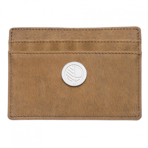 "Limited Edition! Textured Taupe Blaze Tan Leather Slim Card Holder - British Genuine Leather – the ""Poised"""