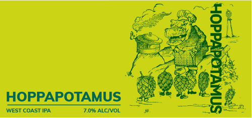 Brewboy's Hoppapotamus Banner Logo