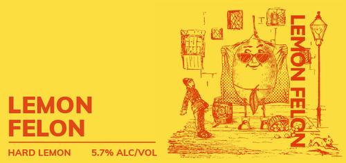 Brewboy's Lemon Felon Banner Logo