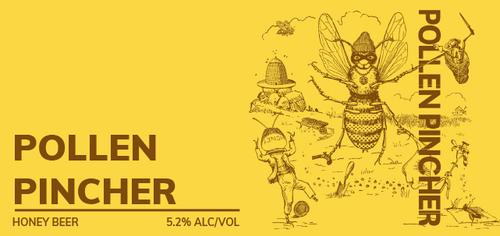 Brewboy's Pollen Pincher Banner Logo