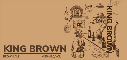 Brewboy's King Brown Banner Logo