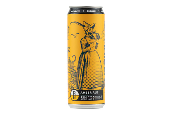 Still shot of a can of Brewboy's Maiden Ale