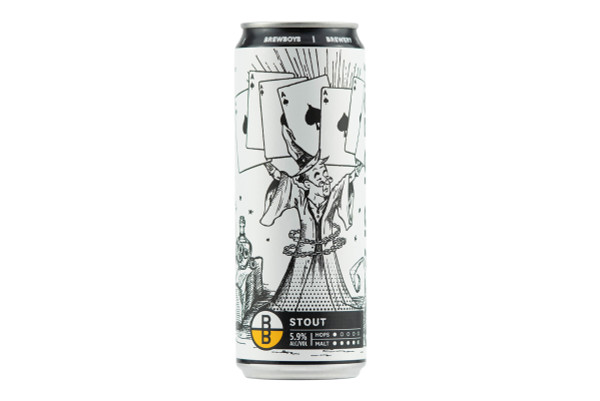 Still shot of a can of Brewboy's Ace of Spades
