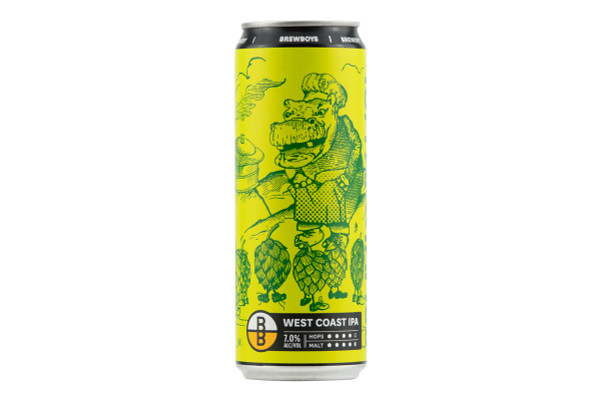 Still shot of a can of Brewboy's Hoppapotamus