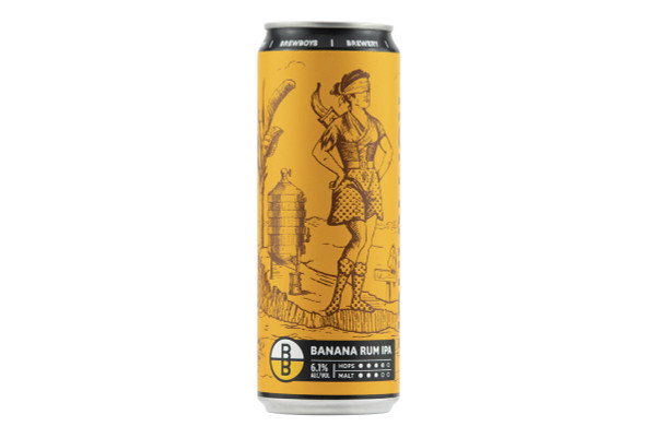 Still shot of a can of Brewboy's Rum Ration