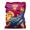 Giant water resistant bean bag (140 w x 180 h cm) - Brisbane Lions team image design - Beans not included (Requires 330 Litres) - Official AFL Merchandise