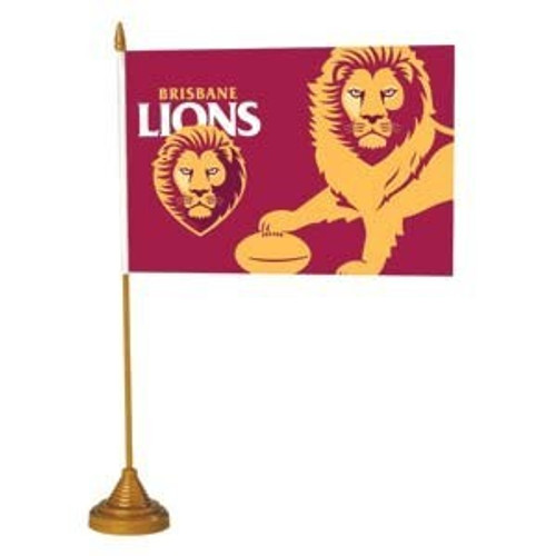 Brisbane Lions Desk Flag