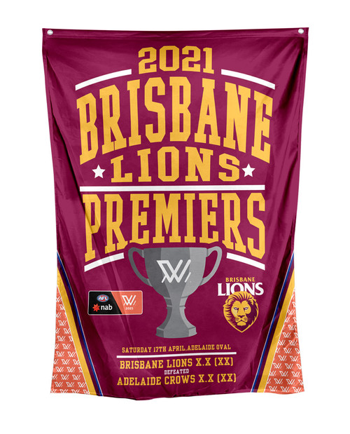2021 AFLW Premiership Wall Flag