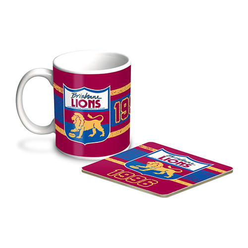 Retro Coffee Mug + Coaster