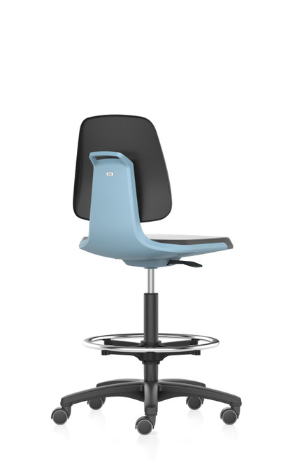 Labsit 4 laboratory chair with Stop & Go castors and foot ring