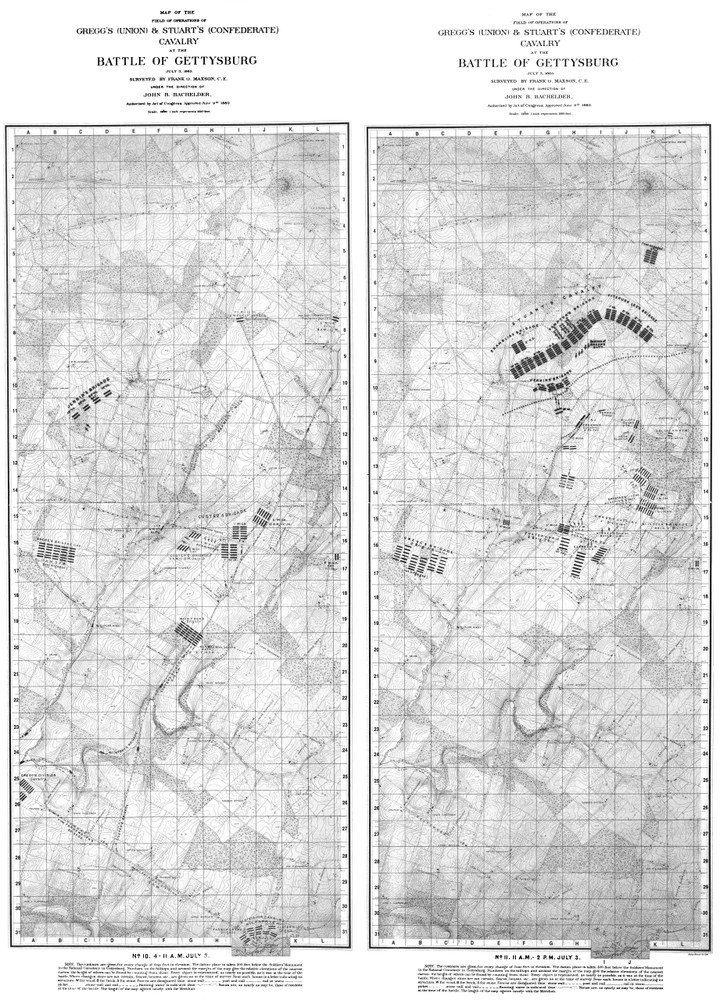 Maps 4-5. July 3, 1863: Stuart's and Gregg's Cavalry