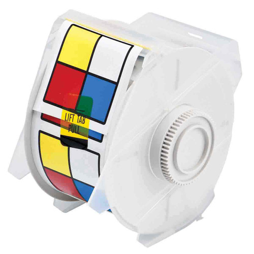 Brady GlobalMark Right-to-Know Labels -  Blue/Red/Yellow on White - 2.25""