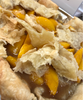 Southern style peach cobbler made with plump sliced peaches and just the right amount of spices, butter and pure extracts.  All butter dumplings throughout and a flaky bottom crust underneath.  ONLY AVAILABLE FOR LOCAL DELIVERY.  CAN NOT BE SHIPPED VIA UPS.