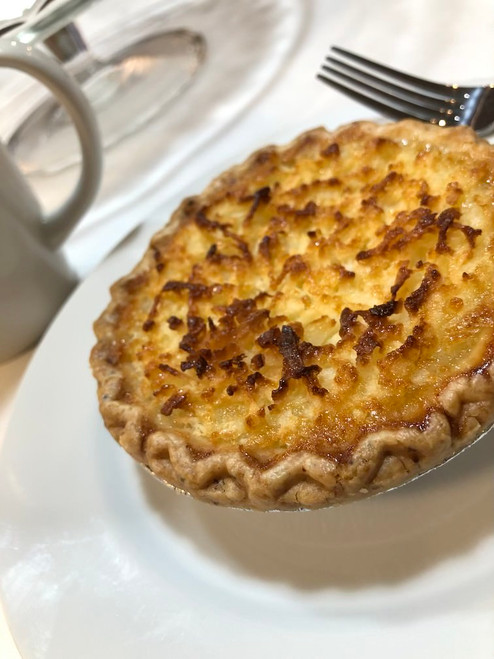 All natural cultured light buttermilk, premium European style butter and fresh eggs make the best custard filling.  Freshly milled pastry flour makes the crust unbelievably flaky. Each pie (10) is individually packaged to maintain freshness.