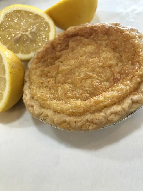 A true Southern chess pie with lots of lemon zest, corn meal and European Style butter baked in a flaky pie crust.