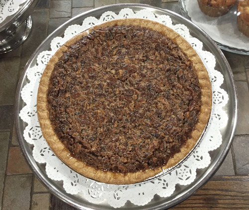 "The perfect mix of light and dark corn syrup, premium European style butter, pure extracts and Georgia pecans create an incredible filling.  Each pie is 10"" and serves 8-10 slices."