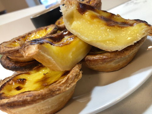 Our traditional Portuguese vanilla custard tart made with Nutella.  13 individual tarts that will leave you speechless.