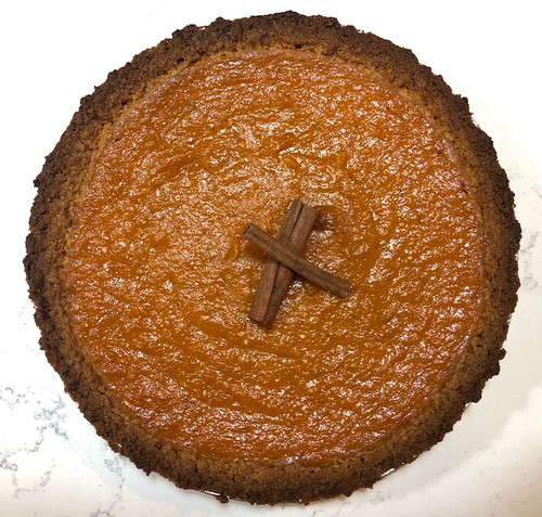 "Perfectly harvested North Carolina Jumbo Yams whipped together with the finest spices, European style butter and pure flavor extracts makes the best sweet potato pie. Baked in a buttery, handcrafted graham cracker crust.  Each pie is 10"" and serves 8-10 slices."