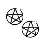 Pentagram guage friendly earings
