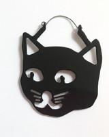 Cat earrings - plug hoop