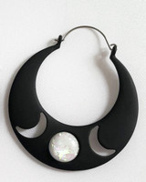Triple Goddess earrings - plug hoop