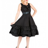 Frills and Thrills Black Gothic Dress