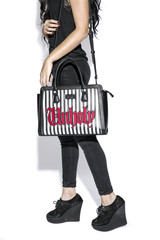 Black Cult Unholy Stripe - Large Handbag