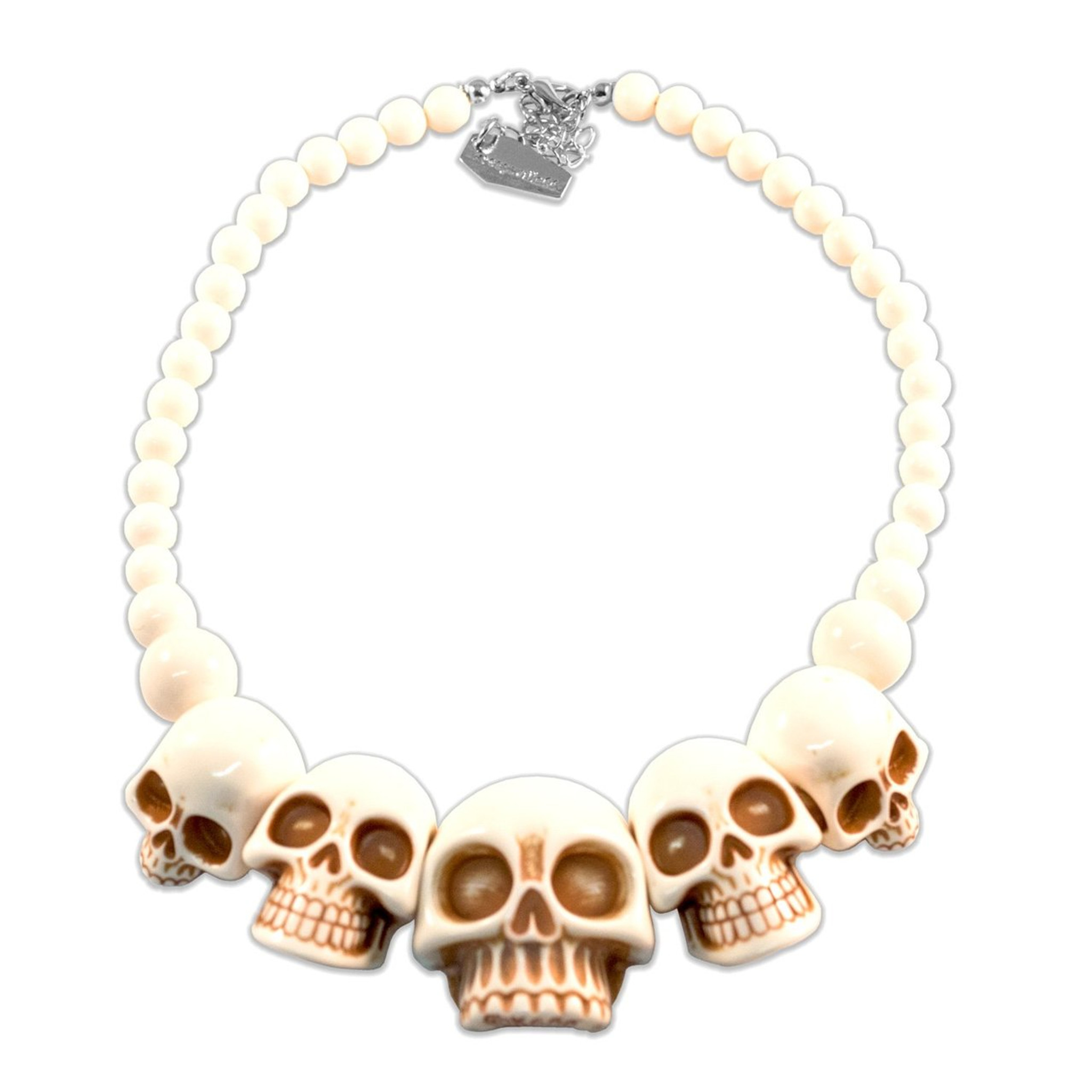 White skull necklace