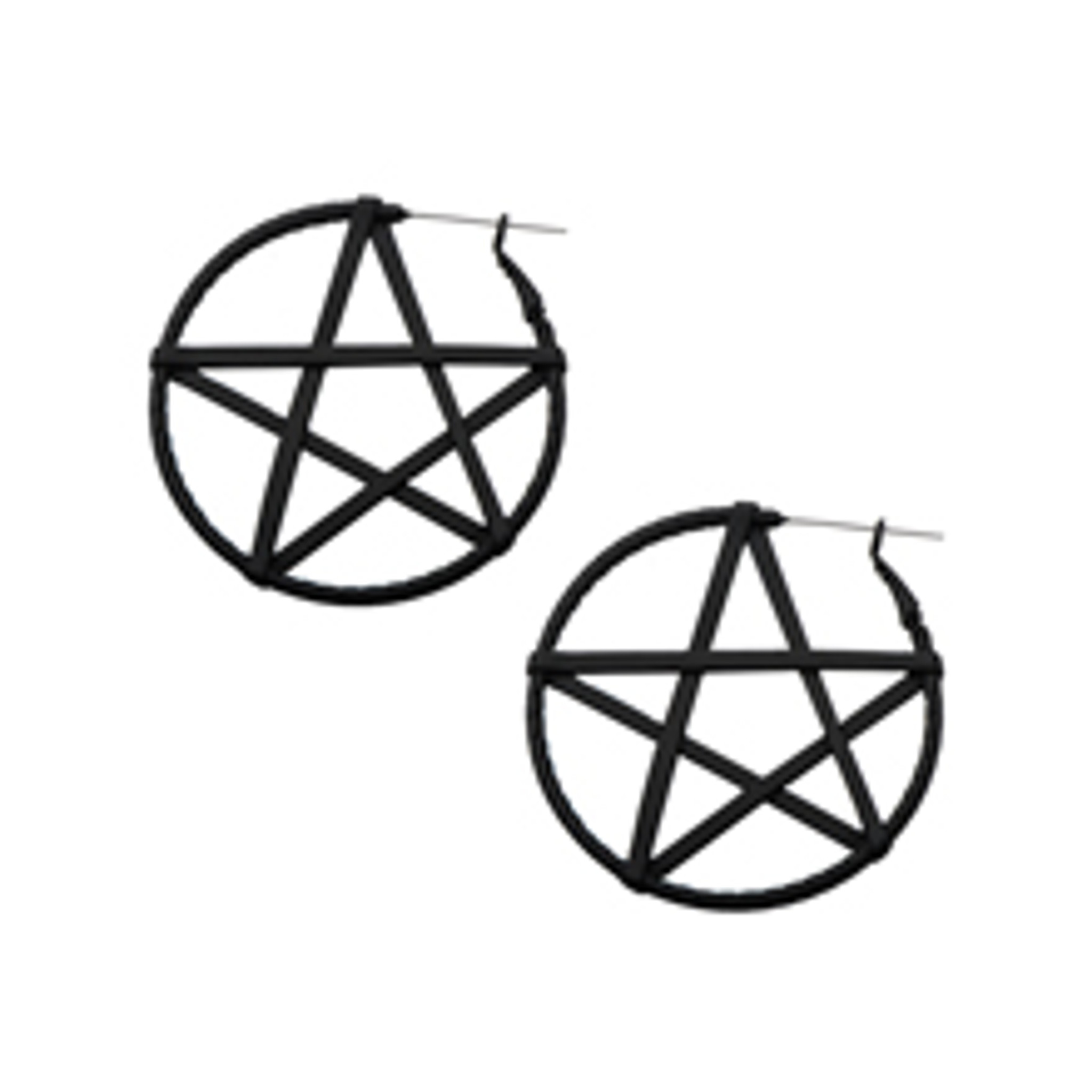 Pentagram guage friendly earings
