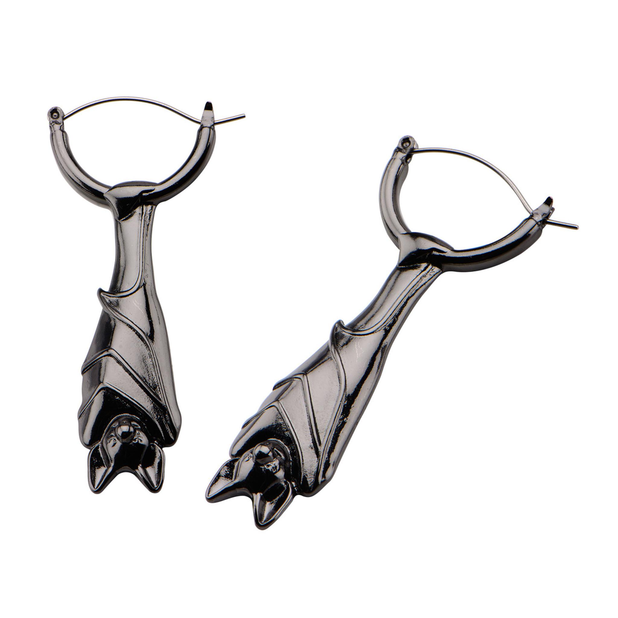 Bat earrings, gauge friendly