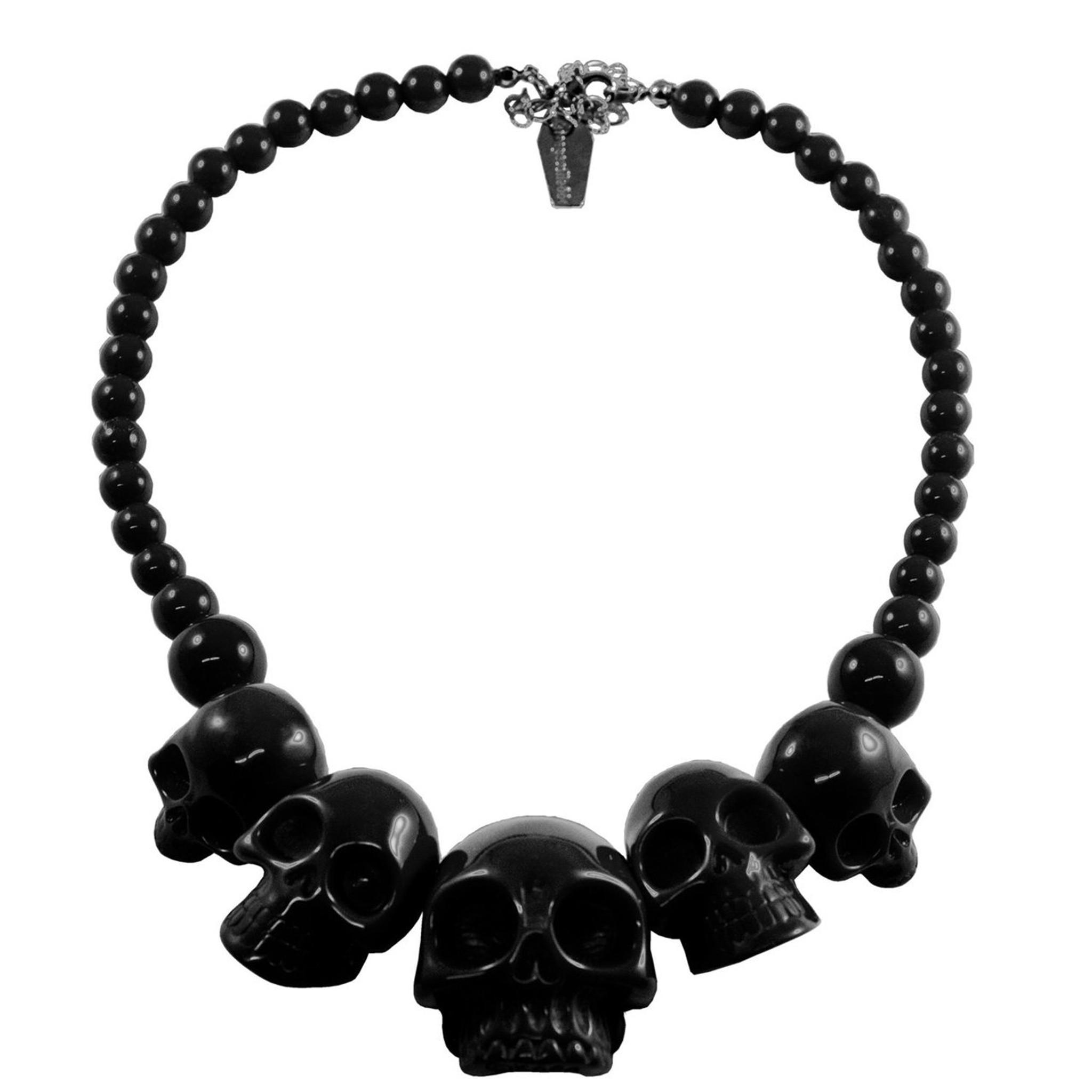 Black skull necklace
