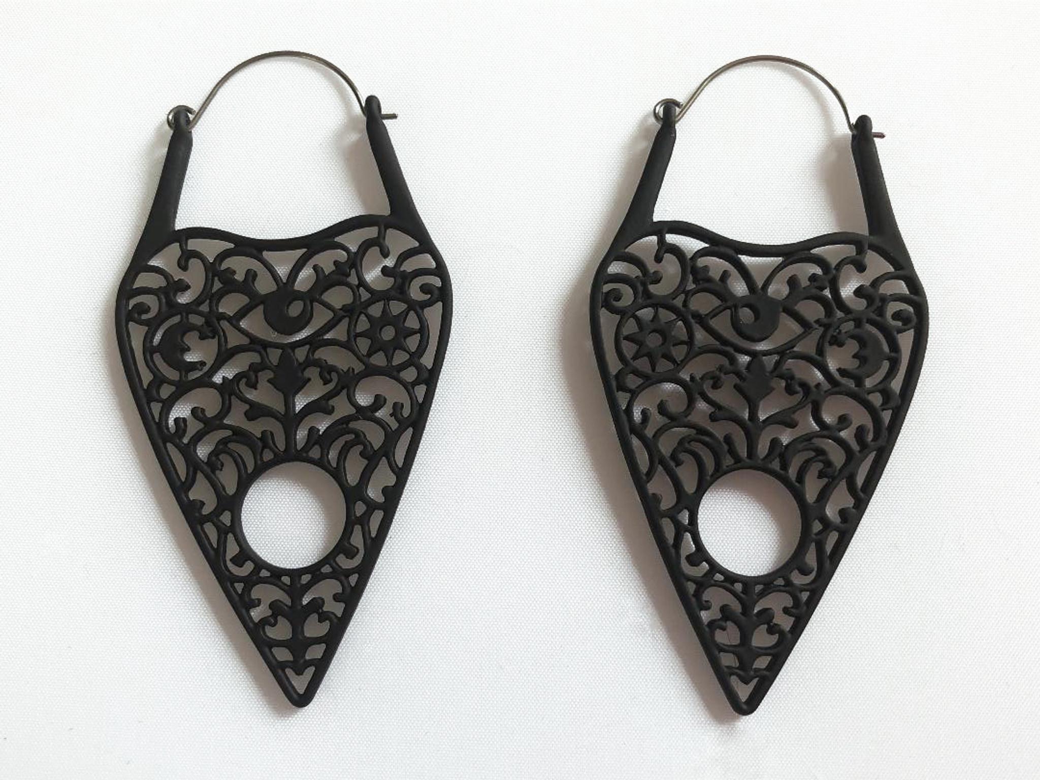 Planchet earrings - pug hoop
