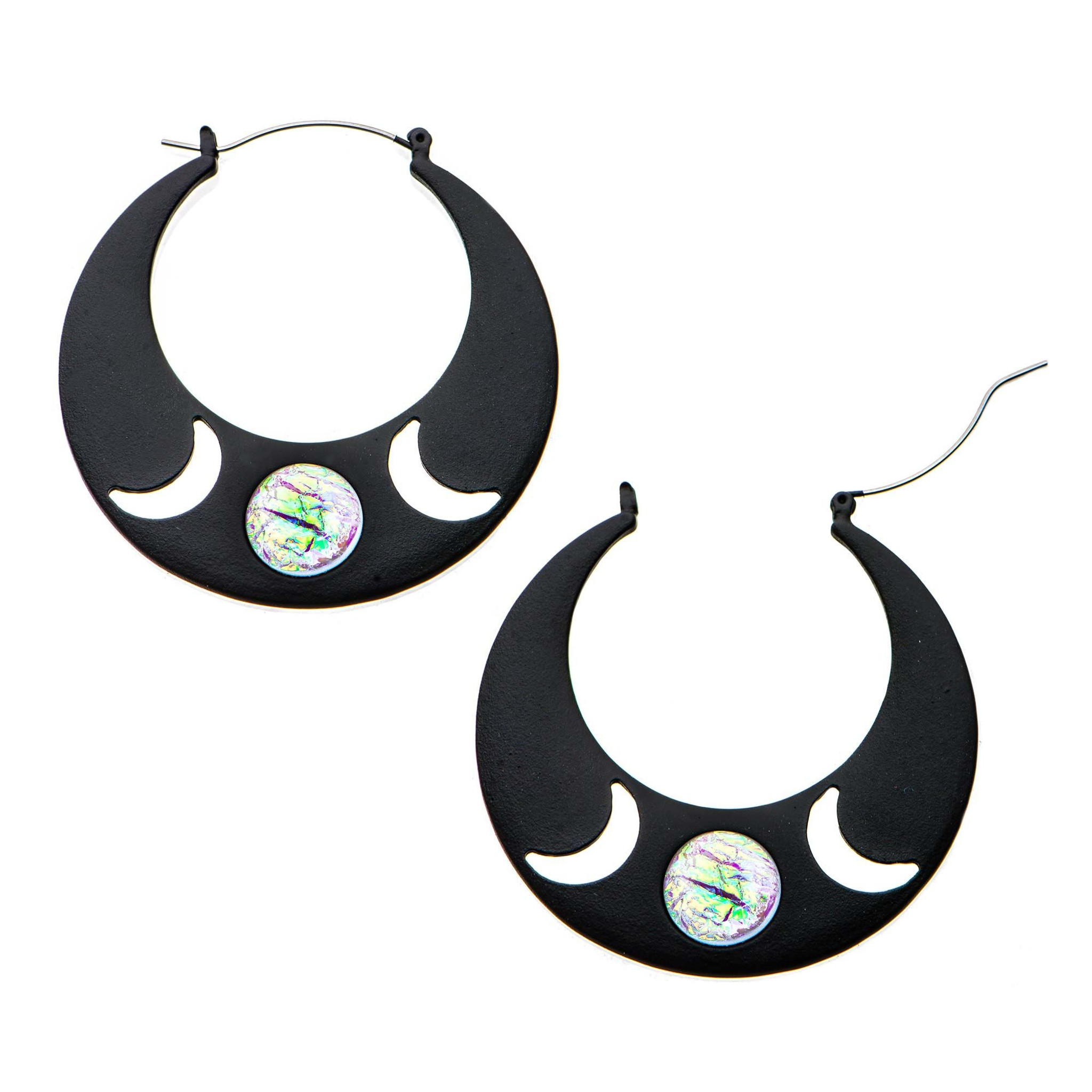 Triple Goddess earrings