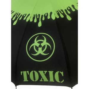 Close up of Toxic pattern on umbrella.