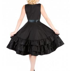 Frills and Thrills Black Gothic Dress