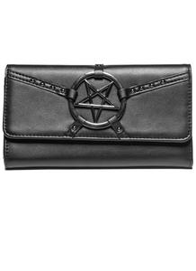 Black Cult Pentagram Harness - Zip Around Wallet