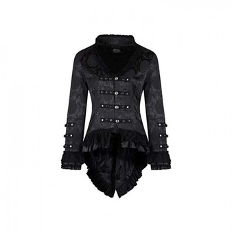 Victorian Steampunk Brocade Tailcoat Corseted Back