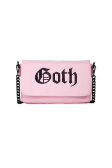 Black Cult Goth - Pink Crossbody Handbag