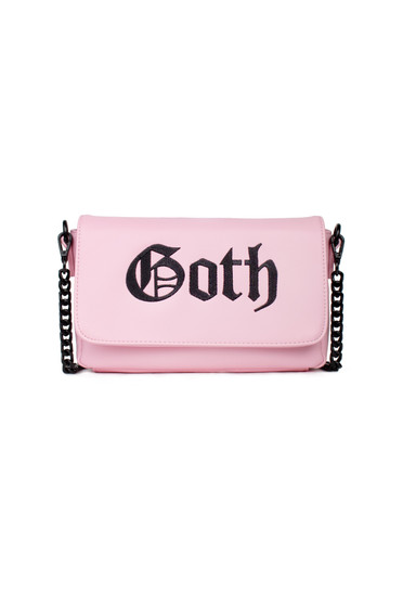 Black Cult Goth - Pink Crossbody Handbag